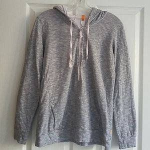 LUCY 3/4 Zip Heather Gray Pullover Hoodie - Size M